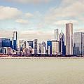 Retro Panorama Chicago Skyline Picture by Paul Velgos