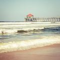 Retro Photo Of Huntington Beach Pier  by Paul Velgos