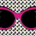 Retro Pink Cat Sunglasses by MM Anderson