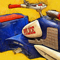 Retro Police Tricycle by Michelle Calkins