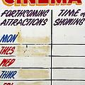 Retro Roxy Cinema Sign by Steve Ball