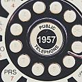 Retro Telephone 1957 Public Telephone by Lisa Russo