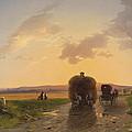 Return From The Field In The Evening Glow by Ignaz Raffalt