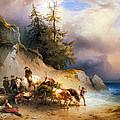 Return From The Mountain Pasture by Friedrich Gauermann