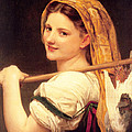 Returned From The Market by William-Adolphe Bouguereau