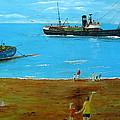 Returning Fishing Trawler  by Errol  Jameson