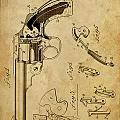 Revolving Fire Arm - Patented On 1885 by Drawspots Illustrations