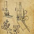 Revolving Gun Colt - Patented On 1836 by Drawspots Illustrations
