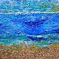 Rhapsody On The Sea Square Crop by Regina Valluzzi