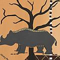 Rhino by Wendy May