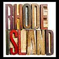 Rhode Island Antique Letterpress Printing Blocks by Donald  Erickson