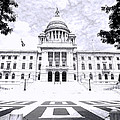 Rhode Island State House Bw by Lourry Legarde