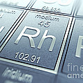 Rhodium Chemical Element by Science Picture Co