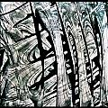 Rhythm And Flow In Black And White Abstract  Alcohol Inks  by Danielle  Parent