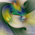 Rhythm Of Life-abstract Fractal Art by Karin Kuhlmann