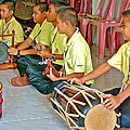 Rhythm Section In Traditional Thai Music Class  At Baan Konn Soong School In Sukhothai-thailand by Ruth Hager