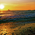 Rialto Beach Sunset Olympic National Park by Ed  Riche