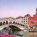 Rialto Bridge At Sunset - Venice by Matteo Colombo