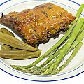 Ribs Plate With Vegetables by Susan Leggett