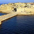 Ricasoli Breakwater At Valletta's Grand Harbor by Laurel Talabere