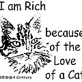 Rich Because Of The Love Of A Cat by Robyn Stacey