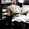 Richard Feynman by Estate Of Francis Bello. Coloured By Science Photo Library