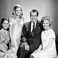 Richard Nixon And Family by Underwood Archives