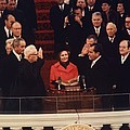 Richard Nixon Taking The Oath Of Office by Everett