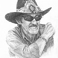 Richard Petty Pencil Portrait by Mike Theuer
