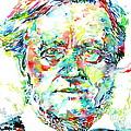 Richard Wagner Watercolor Portrait by Fabrizio Cassetta