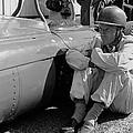 Richie Ginther Next To His Ferrari by Robert Van Es