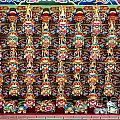 Richly Decorated Temple Ceiling by Yali Shi