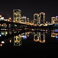 Richmond Night Skyline by Stacy Abbott
