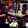 Rick And Daryl Clearing The Courtyard by Dead Art