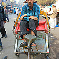 Rickshaw Driver India by Amanda Stadther