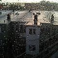 Ridgewood Houses Wet With Rain by Mieczyslaw Rudek Mietko