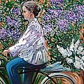 Riding Bycicle For Lilac by Rita Pranca