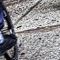 Riding On The Sidewalk by Karol Livote
