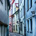 Riga Narrow Street Painting by Antony McAulay