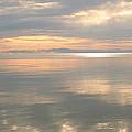 Rileys Bay Door County Sunset by Peg Toliver