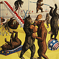 Ringling Bros 1900s Bears Performing by The Advertising Archives