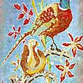 Ringneck Pheasants by Gail Daley