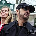 Ringo Starr And Barbara Bach by Ros Drinkwater