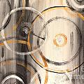 Rings Of Gold Abstract Painting by Jean Plout