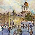 Rink At Kingston Market Square by David Gilmore