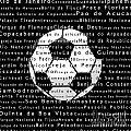 Rio De Janeiro In Words Black Soccer by Sabine Jacobs