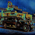 Rio Grande Homage 1950  Gas Station And Vehicle C.1935 by David Lee Guss