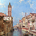 Rio St Barnaba Venice by Franz Richard Unterberger