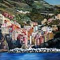 Riomaggiore Glory- Cinque Terre by Jennifer Lycke
