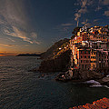 Riomaggiore Peaceful Sunset by Mike Reid